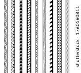 set of vector ethnic seamless... | Shutterstock .eps vector #1760560811