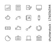 thin line icons for business...