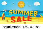 Summer Sale Banner. Sea...