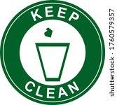 no litter sign green vector... | Shutterstock .eps vector #1760579357