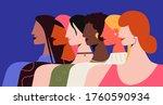 female feminism illustration.... | Shutterstock .eps vector #1760590934