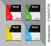 special sale concept banner... | Shutterstock .eps vector #1760634734
