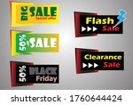 set of banner elements ...   Shutterstock .eps vector #1760644424