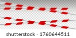 caution lines isolated. warning ...   Shutterstock .eps vector #1760644511