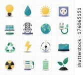 power energy icons white... | Shutterstock .eps vector #176065151