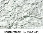 Close Up Of Crumpled Paper