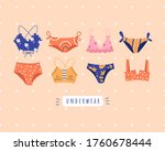 trendy female underwear ... | Shutterstock .eps vector #1760678444