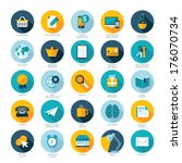 set of flat design icons for e... | Shutterstock .eps vector #176070734