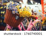 Basket For A Bicycle. Vintage...