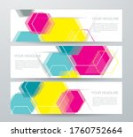 vectors banners with colorful... | Shutterstock .eps vector #1760752664