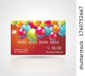 credit card  with bright... | Shutterstock .eps vector #1760752667