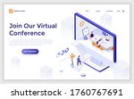 landing page template with man... | Shutterstock .eps vector #1760767691