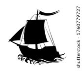 sailing ship silhouette pirate ...   Shutterstock .eps vector #1760779727