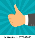 hand with thumb in flat design... | Shutterstock .eps vector #176082815