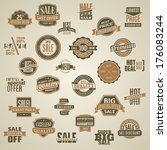 set of vector labels and... | Shutterstock .eps vector #176083244