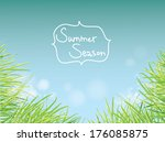 bright summer background with... | Shutterstock .eps vector #176085875