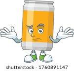 a cartoon image of beer can in... | Shutterstock .eps vector #1760891147