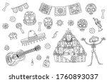 set of vector illustration... | Shutterstock .eps vector #1760893037