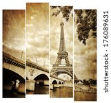 Eiffel Tower Vintage Retro In...