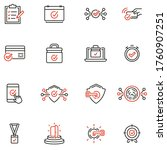 vector set of linear icons...   Shutterstock .eps vector #1760907251