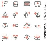 vector set of linear icons...   Shutterstock .eps vector #1760911367