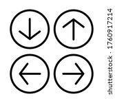arrow web icon vector button....