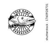 barracuda fish classic badge... | Shutterstock .eps vector #1760928731