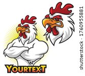 Angry Rooster Mascot Logo Set...