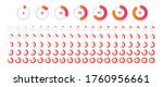 circle percentage diagrams of... | Shutterstock .eps vector #1760956661