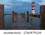 A Wooden Pier Leading To The...