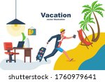 go on vacation. the manager... | Shutterstock .eps vector #1760979641