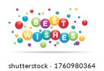 the word best wishes inside... | Shutterstock .eps vector #1760980364