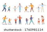 active family sport set. mother ... | Shutterstock .eps vector #1760981114