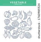 vegetable doodle icon set ...   Shutterstock .eps vector #1760985524