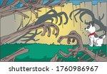 dog is very scared   vector  | Shutterstock .eps vector #1760986967