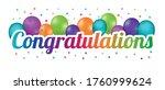 congratulations banner  ...   Shutterstock .eps vector #1760999624