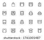 backpack collection line icons... | Shutterstock .eps vector #1761001487