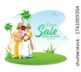 up to 40  off for onam sale... | Shutterstock .eps vector #1761005204