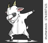 funny dabbing goat pet dab... | Shutterstock .eps vector #1761007121