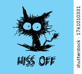 cat lover vector funny design... | Shutterstock .eps vector #1761010331