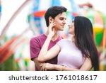 Young couple having fun at an...