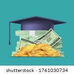 stack of us paper dollar and... | Shutterstock .eps vector #1761030734