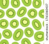 kiwi seamless vector pattern....   Shutterstock .eps vector #1761060437