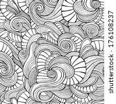 ornamental vintage floral... | Shutterstock .eps vector #176108237