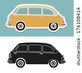 funny old fashion italian... | Shutterstock .eps vector #176108414