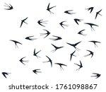 flying swallow birds... | Shutterstock .eps vector #1761098867