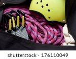 Climbing Gear In A Bag.