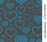 repeated valentine pattern with ... | Shutterstock . vector #176114405