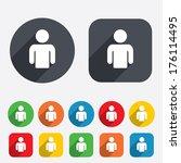 user sign icon. person symbol.... | Shutterstock . vector #176114495