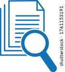 scrutiny document icon vector... | Shutterstock .eps vector #1761153191